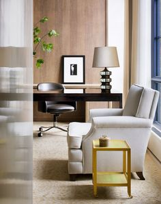 I like the feel of this room. Contemporary, understated, comfortable. Thad Hayes