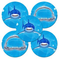 Shark Birthday Value Stickers (5)