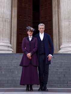 I love this picture of Missy and the doctor... I just noticed she looks VERY simular to Mary poppins.....