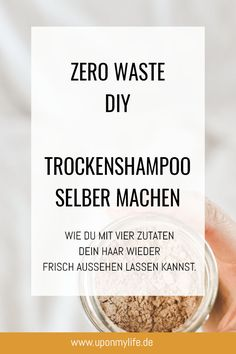 Zero Waste DIY - Trockenshampoo einfach selber machen - UponMyLife Health Clear Skin Health Remedies Health Tips Health For women Health Natural Health Tips Make Natural, Natural Lips, Natural Hair Care, Natural Hair Styles, Lip Gloss Homemade, Homemade Skin Care, Diy Skin Care, Healthy Skin Care, Healthy Foods To Eat