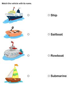 math worksheet : means of transport for kids  teach transportation to preschoolers  : Science Worksheets For Kindergarten Printable