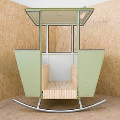How cool would this be in your backyard? In a former life it was a Swiss cable car, recently converted into a garden rocking chair by artist Adrien Rovero. Garden Chairs, Garden Furniture, Furniture Design, Car Chair, Outdoor Fun, Play Houses, Amazing Gardens, Outdoor Gardens, Home And Garden
