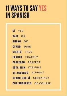 Dire OUI en Espagnol