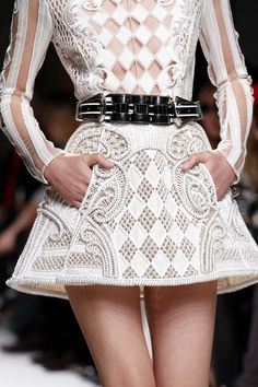 This is VERY cool! It needs white tights. By Balmain
