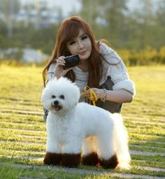 Park Bom and doggy :) (not sure if it is hers, I know she has two poodles) 2ne1 Minzy, 2ne1 Dara, K Pop, South Korean Girls, Korean Girl Groups, Sandara Park, Pop Photos, Choi Seung Hyun, Iconic Women