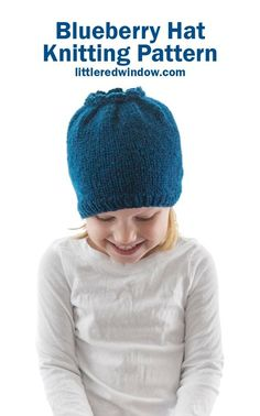 Knit up this adorable blueberry hat knitting pattern for your sweet baby or toddler, they'll be the cutest blueberry on the blueberry bush! Double Pointed Knitting Needles, Circular Knitting Needles, Easy Knitting, Baby Hat Knitting Pattern, Baby Hat Patterns, Knitting Patterns Free, Pretty Cats, Pretty Kitty, Cat Hat