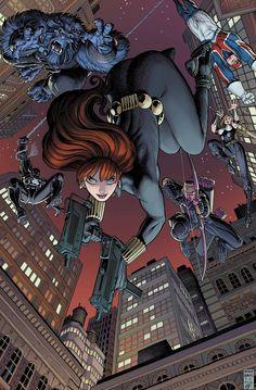 Arthur Adams lovely cover for Secret Avengers #29