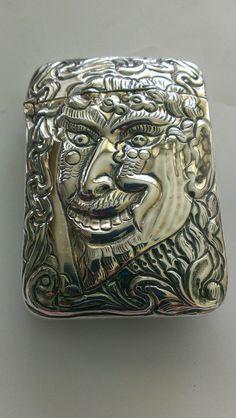 Rare IMSA Collectors #5 of 22 Sterling Silver Devil Match Safe / Vesta Case by Wallace