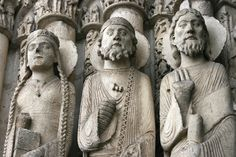 Chartres Cathedral: West Portal: Central Bay Statues