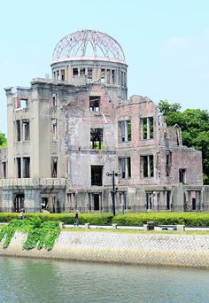 HIROSHIMA PEACE MEMORIAL, commonly called the Atomic Bomb (or Genbaku) Dome, is a ruin which serves as a memorial to the people who were killed in the atomic bombing of August 6 1945. Over 70,000 people were killed instantly, and another 70,000 suffered fatal injuries from the radiation. The building was originally a product exhibition hall designed by a Czech architect. The building was the only structure left standing near the bomb's hypocenter.
