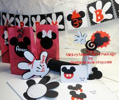 Mickey  Mouse Birthday Party Package by DooMeAFavor on Etsy, $79.00