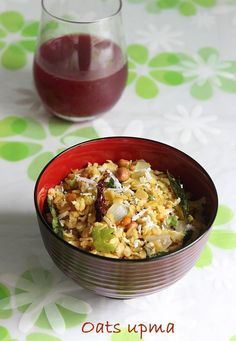 oats upma recipe A bowl of freshly cooked oatmeal or porridge could be one of the healthiest breakfasts. But not many folks like to begin their day with porridge or granola, for them there are many alternates to enjoying this grain.   Oats can be used to make oats pesarattu, buttery oats moong dal dosa, …
