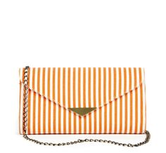05c1ca3f8aac Sole Society Tangerine - Stripe Canvas Clutchs - Blythe Striped Clutches