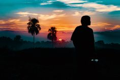People 5472x3648 nature Sun trees palm trees silhouette
