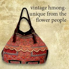 Passionate about ethnic textiles? Genuine Hmong bag  - hand made from intricately embroidered vintage ethnic textiles, multicoloured tent bunting, braided leather straps, corduroy feature. Fully lined, unique & irreplaceable.. http://www.foundling.com.au/collections/accessories-vintage-hmong-bags/products/hmong-vintage-handbag