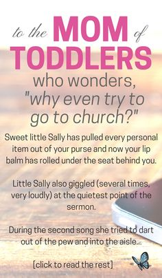 Going to church with toddlers | Motherhood | Parenting