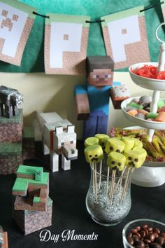 Anniversaire Minecraft » Day Moments papercraft personnages minecraft