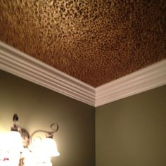 Leopard painted ceiling metallic paint,