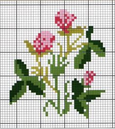 miniature needlework chart clover