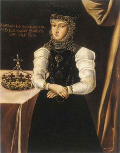 Barbara Radziwill (1520 - 1551) Queen of Poland and Archduchess of Lituania. She was married to King Sigismund II August of Poland.