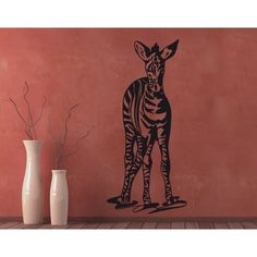 Style and Apply Zebra Wall Decal (8in x 17in )