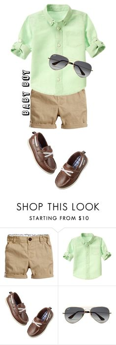 """""""Baby boy"""" by arri-loves ❤ liked on Polyvore featuring H&M, Gymboree, Carter's, Ray-Ban, men's fashion and menswear"""