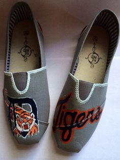 Sports team Detroit tigers TOMS and off brand by magicalslippers