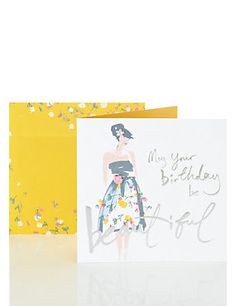 Beautiful Lady Birthday Card