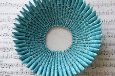 Join art and craft and turn your old paper into a blue bowl. #craft #DIY #easytodo