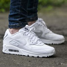 watch d901d a7966 Nike Air Max 90 Leather Gs White Sale UK There are many features of their  own special satisfaction, bounce and buffer performance is very good.