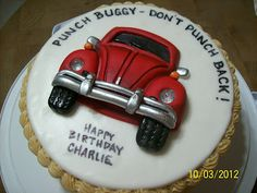 Cakes By Chris: VW Bug Cake (Punch Buggy)