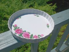 Christineholm Porcelain Rose Quiche Pie Pan Tart Bakeware Baking Dish pauladean.net #pauladean @pauladean
