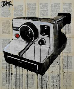 "Saatchi Online Artist: Loui Jover; Ink 2013 Drawing ""the polaroid"""