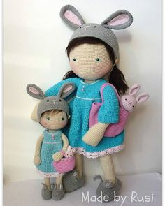 #amigurumi #amigurumidoll #bunnydoll #bunnylove #crochetdoll #crochet #madebyrusi #rusidolls