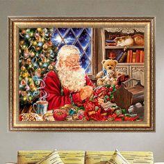 1 Set Christmas DIY 5D Diamond Painting Santa Claus &Xmas Embroidery Adornos Navidad 2016 Diamante Broderie
