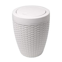 Crafted with a rattan weave design, this natural bathroom bin features a flip lid to conceal your waste, made from durable materials only requiring a wipe clean to keep fresh. Rattan, Charcoal Bathroom, Sensor Bins, Bathroom Bin, Family Bathroom, Bathroom Ideas, Bathrooms, Laundry Bin, Natural Bathroom