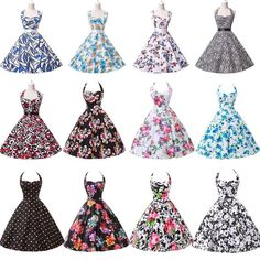 50s 60s Vintage Country Style Bodycon Punk Swing Pinup Rockabilly Carnival Dress #GraceKarin #BallGown #Cocktail