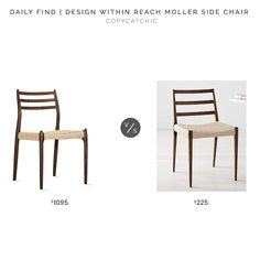 Design Within Reach Moller Model 78 Chair $1095 vs. West Elm Holland Dining Chair $225, mid century dining chair look for less, copycatchic luxe living for less, budget home decor and design, daily finds, home trends, sales, budget travel and room redos