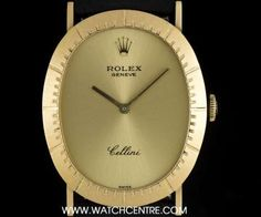 #Rolex 18k Yellow Gold Oval #Cellini Dress Gents #Wristwatch #4056 Rolex Cellini, Black Opal, Clock, Watches, Yellow, Gold, Dress, Jewelry, Watch