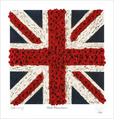 Jack Remembers by British Artist Jacqueline Hurley Union Jack Flag and poppies Limited Edition Fine Art Print Jack Flag, Remembrance Day, Lest We Forget, Union Jack, Limited Edition Prints, Armed Forces, Hurley, Brave, Poppies