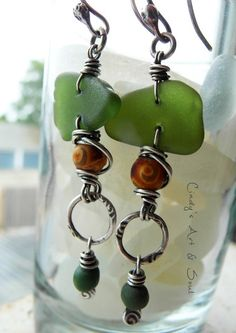 Beach Glass Earrings 9703