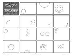 8 Shapes Imagination Workout Printables for your student(s) to stretch his or her imagination, while nurturing creativity and problem solving skills. There are 15 different mini workouts per page relating to a basic shape. Cover Pages, Art Pages, Idea Generation, Mini Workouts, Triangle Square, Engineering Projects, Substitute Teacher, Teaching Aids, School Art Projects
