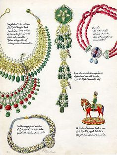 Cartier (Jewels) 1938 Jeanne Toussaint Indian Pendant Clip, Coco Chanel Necklace Ruby and Emerald