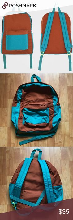 American Apparel - Nylon Cordura School Bag Nylon Cordura Color-block School Bag // Never used and still in perfect condition! No longer available at AA! Can fit many textbooks and a laptop. American Apparel Bags Backpacks