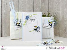 """Australe : Tampons & matrices de coupe (dies) #4enscrap """"Délice sucré"""" Tampons, Cardmaking, Reusable Tote Bags, Blog, Cards, Toucan, Oui, Mojito, Design"""
