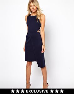 Love | Love Midi Dress with Wrap Skirt at ASOS