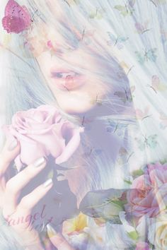 Angel Love Double Exposure Photography, Art Photography, Photoshop Training, Double Exposition, Pastel Palette, Multiple Exposure, Fade Color, Pretty Pastel, Heart Art