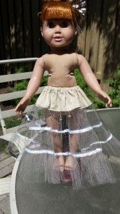 Free Petticoat Pattern for 18 inch dolls and also suitable for 18 1/2 inch Cabbage Patch dolls.  Goes perfectly with my 50's Long Vintage Dress Pattern. All patterns come with  LIFETIME access to video instructions with Rosie showing you step-by-step how to create this wonderful outfit