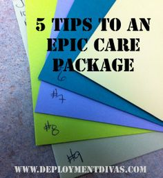 5 Tips to an Epic Care Package  Great list - MilitaryAvenue.com