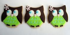 WHOO WHOO OWL Sugar Cookie Party Favors, 1 Dozen. $39.00, via Etsy.